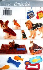 BUTTERICK SEWING PATTERN 4226 OOP DOG PET COATS BEDS MATS TOYS STOCKINGS