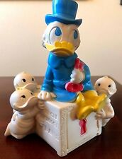 Vintage 1961 Dell Disney UNCLE SCROOGE FIGURINE BANK with Huey Dewey and Louie
