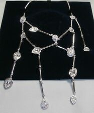 "Swarovski Silver Crystal Fashion Jewellery ""branch Necklace"" 866917 MINT"