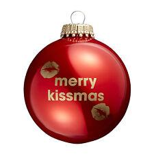 Merry Kissmas - Red Christmas Tree Bauble - Secret Santa Gift?