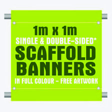 Personalised birthday & Scaffolding large banner