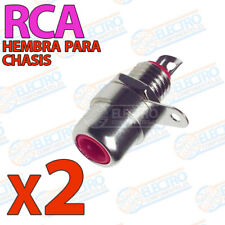 2x Conector RCA Hembra CHASIS ROJO Soldar audio video