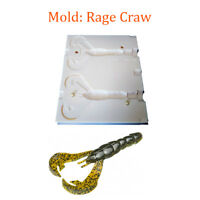 Mold Rage Craw Soft Plastic Fishing Lure Bait Making 3-3.8""
