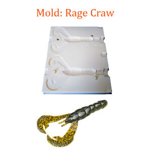 "Mold Craw Soft Plastic Fishing Lure Bait Making 3-3.8"""
