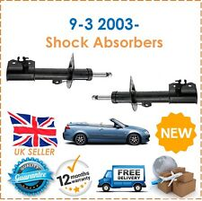 For Saab 9 3 9-3 Cabrio 1.8 1.9 2.0 2003-2015 Two Front Shock Absorbers Set New