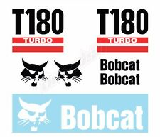 Bobcat T180 Turbo Skid Steer Set Vinyl Decal Sticker Free Shipping