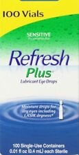 Allergan Refresh Plus Lubricant Eye Drops Single-Use Vials - 100 ct