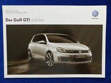 VW Golf GTI Adidas - Technik & Preise 2013 - Prospekt Brochure 04.2012