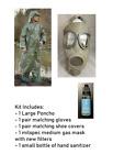 Military Surplus Chemical Suit Pandemic Hazmat PPE Kit Medium Gas Mask Sanitizer