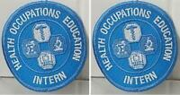 """Health Occupations Education Intern 3"""" Across Sew on Patch Medical Set of 2"""