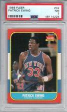 Patrick Ewing 1986-87 Fleer Rookie RC #32 PSA 7 NM