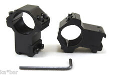 """25mm to 11mm 1"""" X 3/8""""  INCH  MOUNT SCOPE SIGHT RINGS BASE HIGH PROFILE AIRSOFT"""