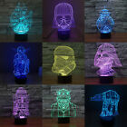 3D Art Bed Night Light USB LED Table Desk Lamp 7 Color Change Valentine Day Gift