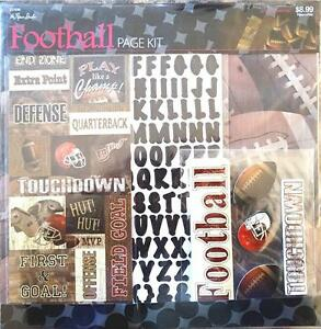 """The Paper Studio, Football Scrapbooking Page Kit with Stickers, 12""""x12"""" paper"""