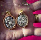 LUANG PHOR WAT BAN LAEM PENDANT GOLD MICRON CASE THAI BUDDHA AMULET