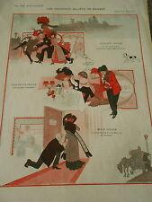 Les Nouveaux Billets de Banque 50 francs 500 et Mille Francs Print Art Déco 1910