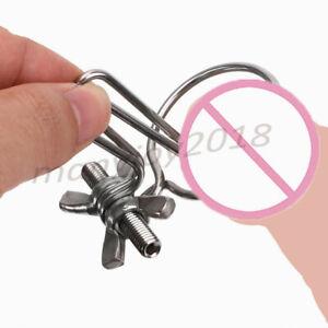Urethral Dilator Adjustable Men Gay Stainless Steel Penis Plug Sound Enhancing