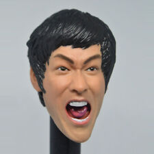 Bruce Lee whoop Yell Head Sculpt Model 1/6 Fit 12'' Action Figure Collection New