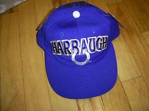 JIM HARBAUGH VINTAGE SNAPBACK STARTER HAT CAP COLTS #4 NWT MICHIGAN WOLVERINES