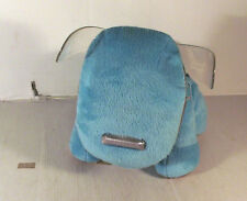 "Grande 10"" Azul I-perro de juguete suave Altavoz para MP3 reproductor de música Idog Luces Intermitentes"