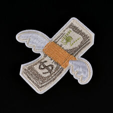 DIY Money with Wings Patch Embroidered Applique Sew Iron On Patch Badge Xmas -W