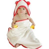 "Hooded Baby Towel and Washcloth Set 100% Organic Bamboo Cotton 35"" x 35"""