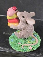 Charming Tails Gathering Treats Mouse Carrying Jelly Beans