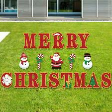 JUMUU Merry Christmas Porch Sign-Merry Christmas Decorations Outdoor Indoor Porch Banners Red Porch Sign Hanging Xmas Decorations for Home Wall Indoor Outdoor Holiday Party Decor Red