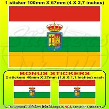 LA RIOJA Flag SPAIN Comunidad Autónoma Spanish 100mm Sticker Decal x1+2 BONUS