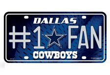 Dallas Cowboys #1 Fan Metal License Plate Tag