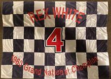 NASCAR, Rex White Signed replica Checker Flag w/3 Pro Sports decal