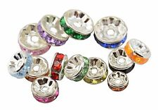 10pcs Clear Rhondelle Rhinestone Spacer Beads Choose Size & Colour