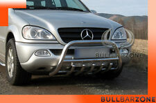 MERCEDES ML 2002-2005 TUBO PROTEZIONE MEDIUM BULL BAR INOX STAINLESS STEEL!