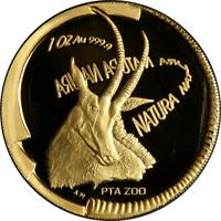 2000 Natura 1 Ounce Gold Coin - .9999 Fine - The Sable - SA Mint OGP COA