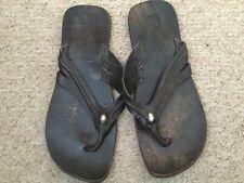 Leather flip flops size 11