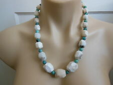 """Mine Finds Jay King 22"""" Sterling Chunky Howlite Nugget Turquoise Bead Necklace"""