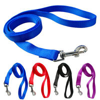 4 Feet Nylon Pet Dog Leash Leads for Daily Walking Blue Black Red Purple