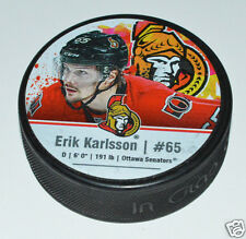 ERIK KARLSSON Ottawa Senators PLAYER STAR PUCK #65 In Glas Co.