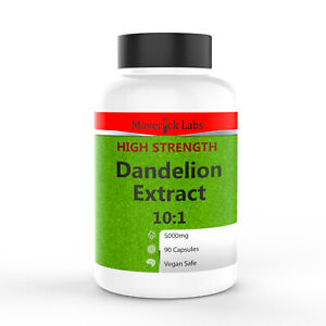 Dandelion Root Capsules 5000mg Whole Root – Strongest Natural Extract