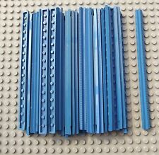 32 Pieces of LEGO Vintage Blue Straight Train Track 16L 3228a 1966-1980