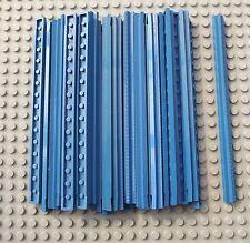 32 Pièces de LEGO Bleu Vintage Droit Rails De Train 16L 3228a 1966-1980