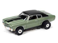 AUTO WORLD NEW RELEASE 32 Thunderjet '70 Chevrolet Chevelle SS (GREEN) SLOT CAR
