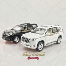 New Xh 1:32 Toyota Land Cruiser Prado Diecast Model Light and Sound White Black