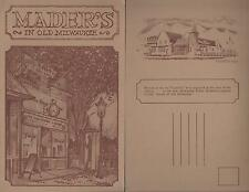 LOT OF 2 *OLD MILWAUKEE WI VINTAGE POST CARDS *MADER'S GERMAN RESTAURANT HISTORY