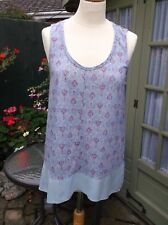 LOVELY LADIES TOP  BY WHITE STUFF SIZE 12 PALE TURQUOISE GOOD CONDITION
