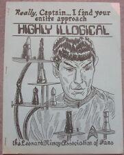 "Star Trek ""Highly Illogical"" LNAF Puzzle Book Fanzine 1976 Leonard Nimoy"