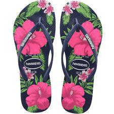 Sandali e scarpe slim in gomma blu per il mare da donna