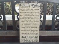 Scripture Family Rules Canvas, Bible Verse, Personalized FREE, Beautiful Gift