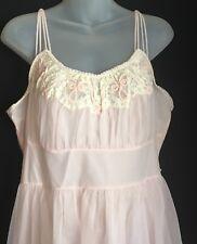 Vintage 1950s Pink Gotham Nightgown Fitted Waist Full Skirt Honeymoon Medium