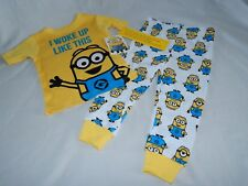 Despicable Me Movie Minions Figures Pajamas Poster Shirt Boys Toddler Size 2T